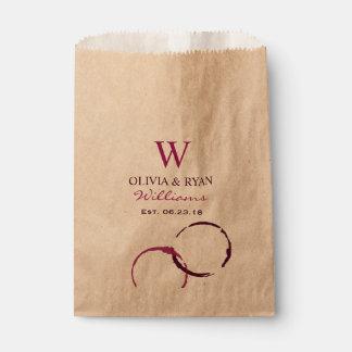 Wedding Favor Bags | Wine Monogram