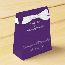 Wedding Favor Box, Purple Favor Box