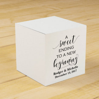 Wedding Favor Box - Sweet Ending to New Beginning