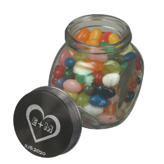Wedding Favor Chalkboard Heart Candy Jar Glass Candy Jars