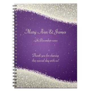 Wedding Favor Dazzling Sparkles Purple Journal