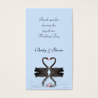 Wedding Favor Gift Tag Romancing Swans Wedding Set