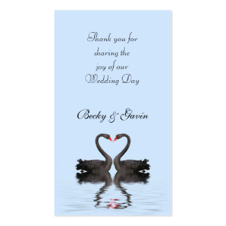 Wedding Favor Gift Tag Romancing Swans Wedding Set Double-Sided Standard Business Cards (Pack Of 100)