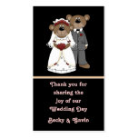 Wedding Favor Gift Tag Wedding Bears Collection Double-Sided Standard Business Cards (Pack Of 100)