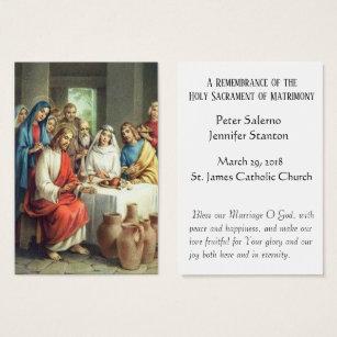 Catholic business cards templates zazzle wedding favor holy cards catholic keepsakes colourmoves