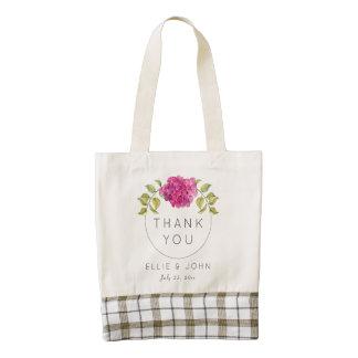 Wedding Favor Hot Pink Hydrangea Zazzle HEART Tote Bag