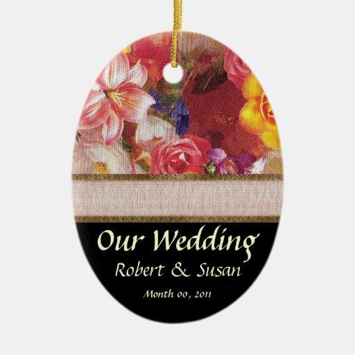wedding favor keepsake ceramic ornament zazzle
