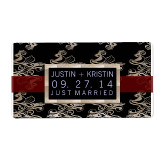 Wedding favor label