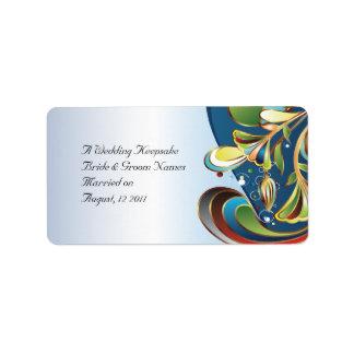 Wedding Favor Lip Balm Tube Personalized Address Labels