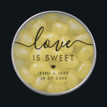 """Wedding Favor Love is Sweet Candy, Jelly Bean Cand Candy Tin<br><div class=""""desc"""">These cute candy tins are perfect for your wedding favors or welcome bags.</div>"""