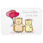 Wedding Favor Magnet - Cute hedgehog couple Vinyl Magnets