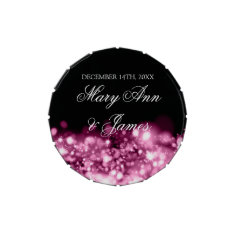 Wedding Favor Sparkling Lights Pink Jelly Belly Tins at Zazzle