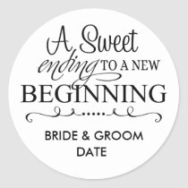 WEDDING FAVOR STICKER A Sweet Ending