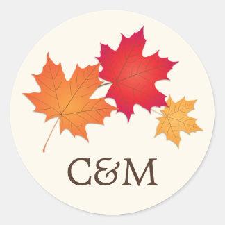 Wedding Favor Sticker | Autumn Fall Theme