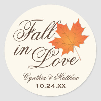 Wedding Favor Sticker | Fall in Love Theme