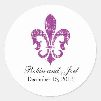 Wedding Favor Sticker New Orleans Fuschia