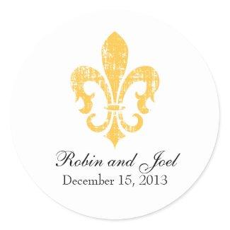 Wedding Favor Sticker | New Orleans | Gold