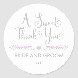 WEDDING FAVOR STICKER Sweet thank you.