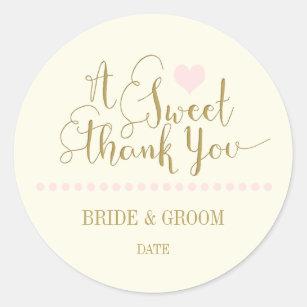 Wedding Favor Sticker Sweet Thank You