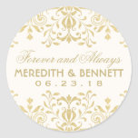 Wedding Favor Stickers | Gold Vintage Glamour at Zazzle