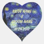 Wedding favor stickers.  Starry Night Sticker