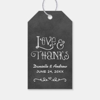 Wedding Favor Tag | Black Chalkboard Charm