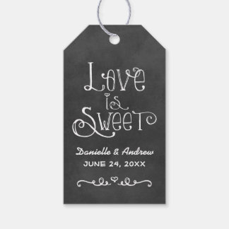 Wedding Favor Tag | Black Chalkboard Charm Pack Of Gift Tags