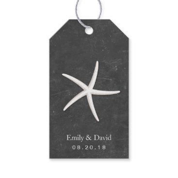Beach Themed Wedding Favor Tag | Chalkboard Starfish