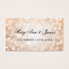 Wedding Favor Tag Copper Glitter Lights at Zazzle