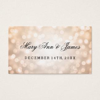 Wedding Favor Tag Copper Glitter Lights