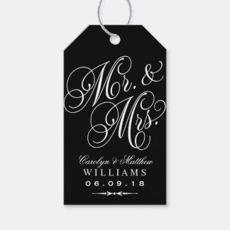 Wedding Favor Tag | Elegant Monogram