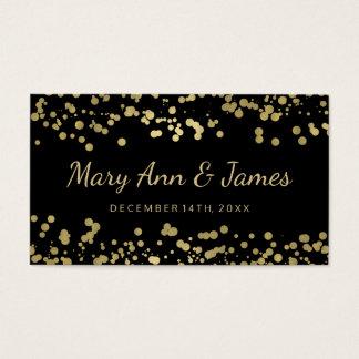 Wedding Favor Tag Gold Foil Confetti