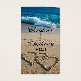 Wedding Favor Tag Heart on the Shore Beach