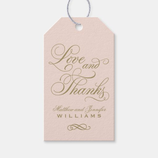 Wedding Favor Cards Tags : Wedding Favor Tag Love and Thanks Zazzle