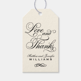 Wedding Favor Tag | Love and Thanks Pack Of Gift Tags