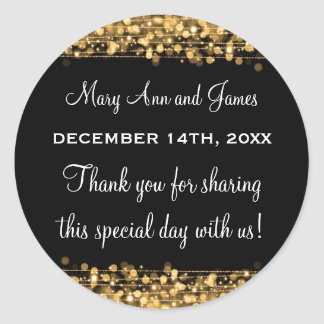 Wedding Favor Tag Magic Party Sparkles Gold