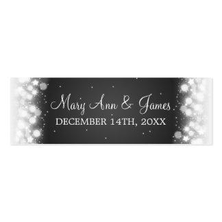 Wedding Favor Tag Magic Sparkle Black Business Card