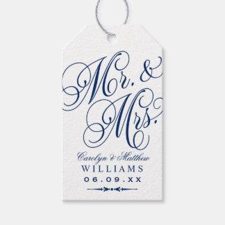 Wedding Favor Tag | Navy Blue Monogram