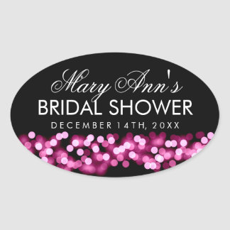 Wedding Favor Tag Pink Hollywood Glam