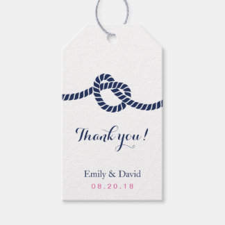 Wedding Favor Tag Royal Blue Tying the Knot