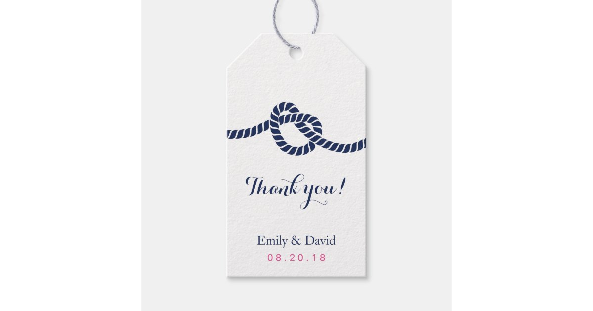 Wedding Favor Tag Royal Blue Tying The Knot Pack Of Gift Tags
