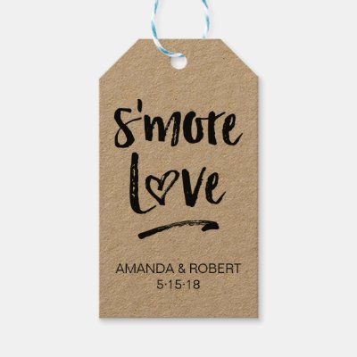 s more love tag baby shower favor smore love gift tags zazzle com