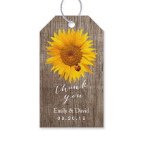 Wedding Favor Tag | Sunflower & Ladybug Barn Wood