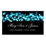 Wedding Favor Tag Turquoise Hollywood Glam Business Card