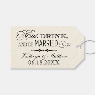 Wedding Favor Tags   Eat Drink and Be Married