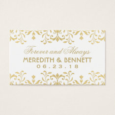 Wedding Favor Tags | Gold Vintage Glamour at Zazzle
