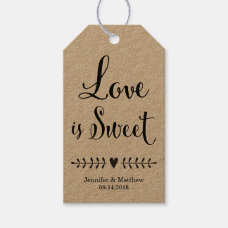 How To Make Wedding Gift Tags : Wedding favor tags / Kraft wedding favor tags