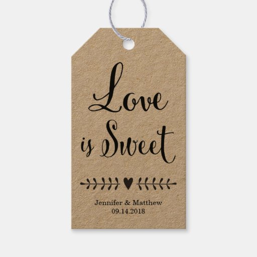 Wedding Gift Tags For Favors : Wedding favor tags / Kraft wedding favor tags Zazzle
