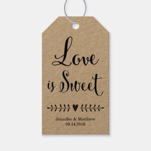 Wedding Gift Tags For Favors : Wedding favor tags / Kraft wedding favor tags Zazzle