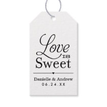 Wedding Favor Tags | Love is Sweet - Black